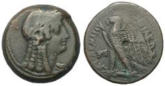 Ancient Coins - Egypt, Ptolemy VI, 163 - 145 BC, AE28 of Alexandria