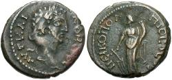 Ancient Coins - Commodus, 177 - 192 AD, AE Nicopolis, Tyche