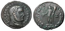 Ancient Coins - Galerius as Caesar, 293 - 305 AD, Follis of Antioch, Genius