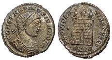 Ancient Coins - Constantine II as Caesar, 317 - 337 AD, Follis of Heraclea, Rare