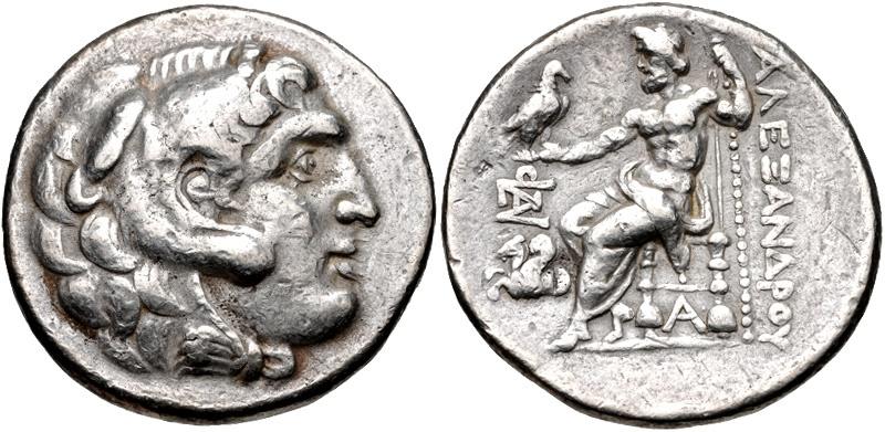 Ancient Coins - Mysia, Lampaskos, 280 - 275 BC, Tetradrachm of Alexander The Great