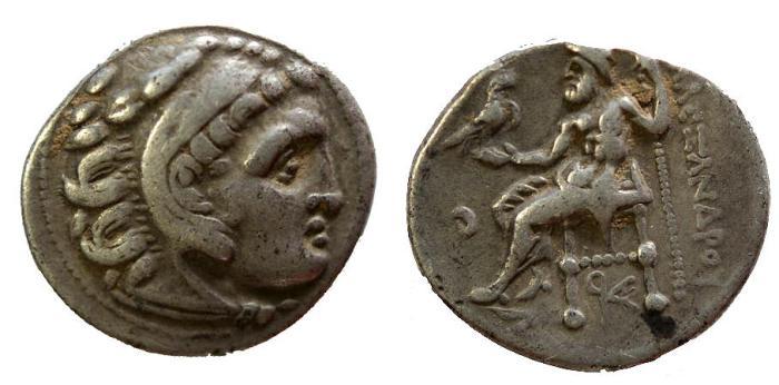 Ancient Coins - Macedonian Kingdom, Antigonos I Monophthalmos, Strategos of Asia, 320 - 301 BC, Silver Drachm