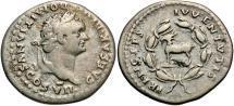 Ancient Coins - Domitian, as Caesar, 79 - 81 AD, Silver Denarius