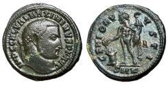 Ancient Coins - Galerius, 305 - 311 AD, Follis of Cyzicus, Genius
