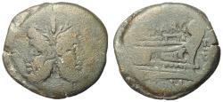 Ancient Coins - Q. Marcius Libo, 148 BC, AE As