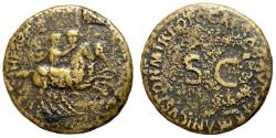 Ancient Coins - Nero & Drusus Caesars, 37 - 38 AD, Dupondius