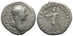 Ancient Coins - Trajan, 98 - 117 AD, Silver Denarius, Roma