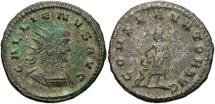 Ancient Coins - Gallienus, 253 - 268 AD, Antoninianus of Antioch, Aesculapius