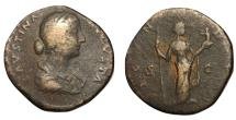 Ancient Coins - Faustina Jr., 147 - 175 AD, Sestertius, Fecunditas