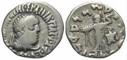 Ancient Coins - Bactria, Apollodotus II, 80 - 65 BC, Silver Drachm, Athena