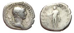 Ancient Coins - Trajan, 98 - 117 AD, Silver Denarius, Genius