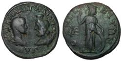 Ancient Coins - Gordian III, 238 - 244 AD, Five Assaria of Odessos, Athena