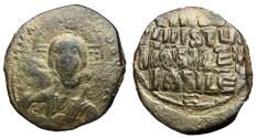 Ancient Coins - Romanus III, 1028 - 1034 AD, Anonymous Class B Follis with Christ
