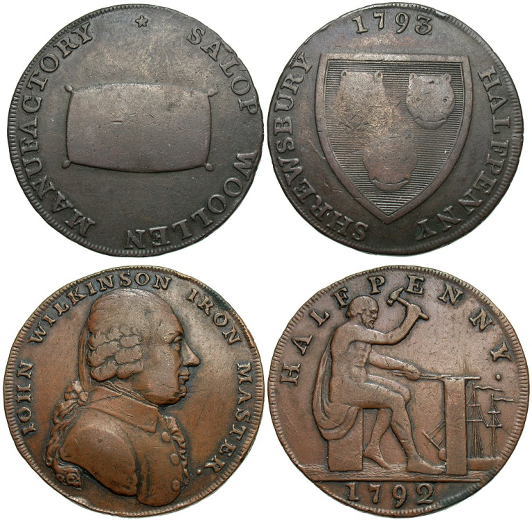 Ancient Coins - Great Britain, Late 18th Century, Lot of Two Conder Tokens