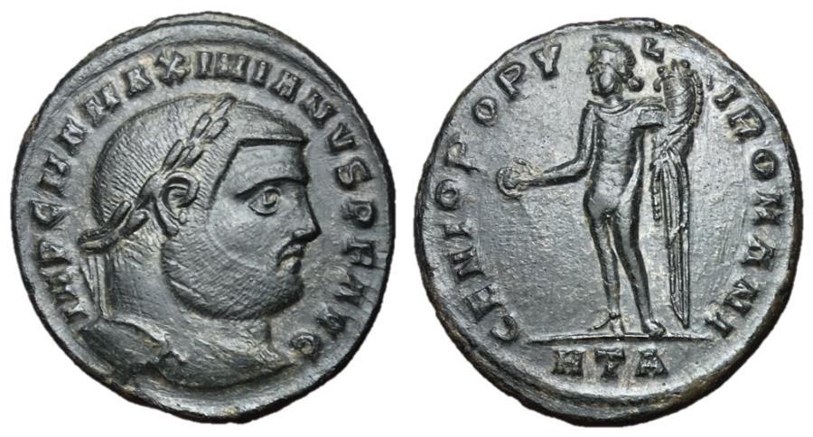 Ancient Coins - Maximianus, 286 - 305 AD, Follis of Heraclea