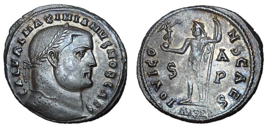 Ancient Coins - Galerius, as Caesar, 293 - 305 AD, Follis of Alexandria