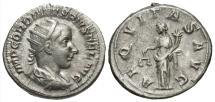 Ancient Coins - Gordian III, 238 - 244 AD, Silver Antoninianus, Aequitas