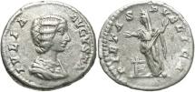 Ancient Coins - Julia Domna, Under Septimius Severus, 193 - 211 AD, Silver Denarius, Pietas