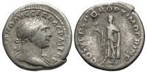 Ancient Coins - Trajan, 98 - 117 AD, Silver Denarius, Spes