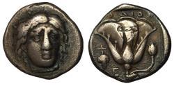 Ancient Coins - Caria, Rhodos, 340 - 316 BC, Silver Didrachm