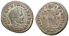 Ancient Coins - Licinius I, 308 - 324 AD, Follis of Rome, Sol