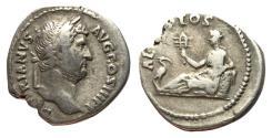 Ancient Coins - Hadrian, 117 - 138 AFD, Silver Denarius, Egypt