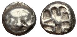Ancient Coins - Mysia, Parion, 5th - 4th Century BC, Silver Drachm with Gorgoneion