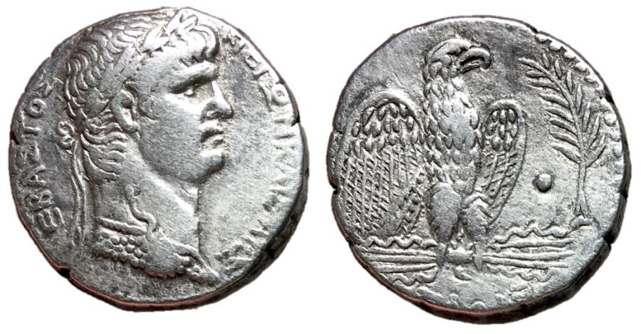 Ancient Coins - Nero, 54 - 68 AD, Silver Tetradrachm, Antioch