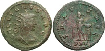 Ancient Coins - Gallienus, 253 - 268 AD, Antoninianus of Antioch, Apollo