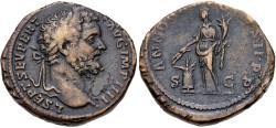 Ancient Coins - Septimius Severus, 193 - 211 AD, Sestertius, Annona