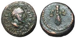Ancient Coins - Trajan, 98 - 117 AD, AE Quadrans, Club of Hercules