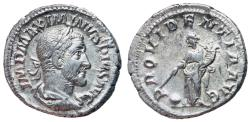 Ancient Coins - Maximinus I, 235 - 238 AD, Denarius with Providentia