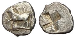 Ancient Coins - Thrace, Byzantion, 340 - 320 BC, Silver 1/5 Siglos