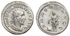 Ancient Coins - Philip I, 244 - 249 AD, Silver Antoninianus, Annona