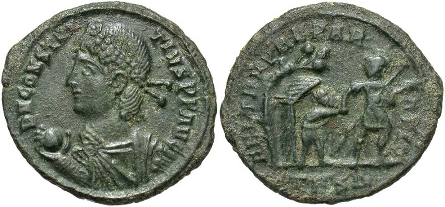 Ancient Coins - Constantius II, 337 - 361 AD, Thessalonika Mint