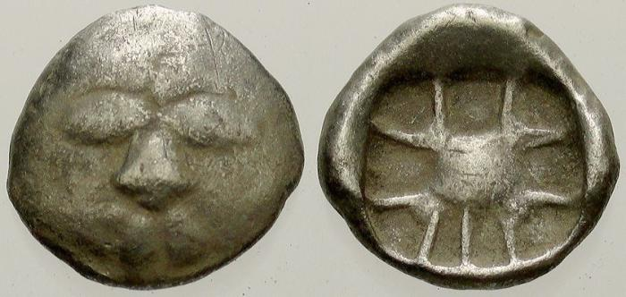 Ancient Coins - Mysia, Parion, 5th Century BC, Silver Hemidrachm
