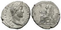 Ancient Coins - Hadrian, 117 - 138 AD, Silver Denarius, Victory