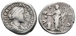 Ancient Coins - Lucilla, 161 - 162 AD, Silver Denarius, Vesta
