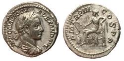 Ancient Coins - Severus Alexander, 222 - 235 AD, Silver Denarius, Salus