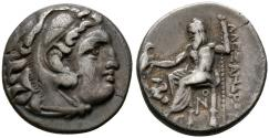 Ancient Coins - Kings of Macedonia, Antigonos I, 310 - 301 BC, Silver Drachm, Lampsakos Mint