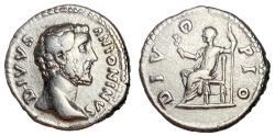 Ancient Coins - Divus Antoninus Pius Silver Denarius, Issue by Aurelius & Verus