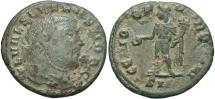 Ancient Coins - Severus II as Caesar, 305 - 306 AD, Denarius of Quarter Follis, Genius