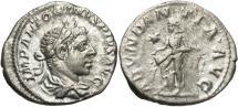 Ancient Coins - Elagabalus, 218 - 222 AD, Silver Denarius, Abundantia