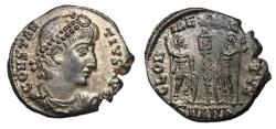 Ancient Coins - Constantius II, 330 - 335 AD, Silvered Follis of Antioch