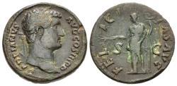 Ancient Coins - Hadrian, 117 - 138 AD, Sestertius with Felicitas