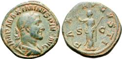 Ancient Coins - Maximinus I, 235 - 238 AD, Sestertius with Pax