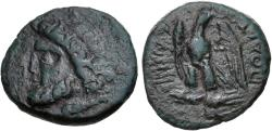 Ancient Coins - Macedon, Amphipolis, 148 - 31 BC, AE Dichalkon, Zeus & Eagle, ex Cederlind