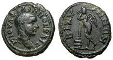 Ancient Coins - Philip II, as Caesar, 244 - 247 AD, Assarion of Bizya, Winged Genius, Rare