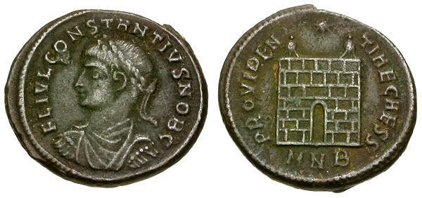 Ancient Coins - Constantius II, as Caesar, 324 - 337 AD, AE3, Nicomedia Mint