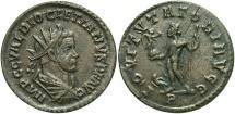 Ancient Coins - Diocletian, 286 - 305 AD, Antoninianus of Lugdunum, Scarce IOVI TVTATORI